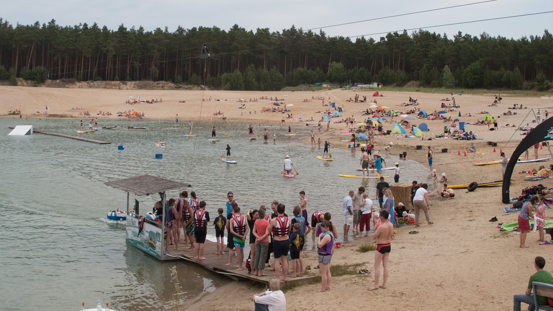 Genießt das schöne Wetter, unseren tollen Strand und das saubere Wasser im Wasserskipark Zossen.